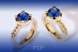 New Collection combi saffier diamanten ring